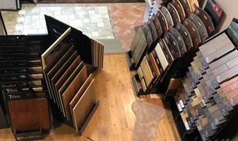 The showroom of Cummings Carpet Service